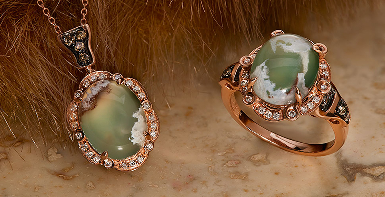 aquaprase pendant and ring by le vian