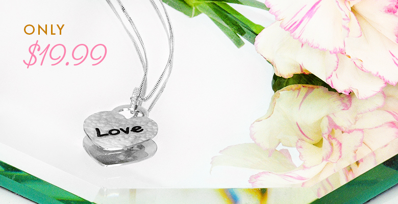 heart necklace only 19.99