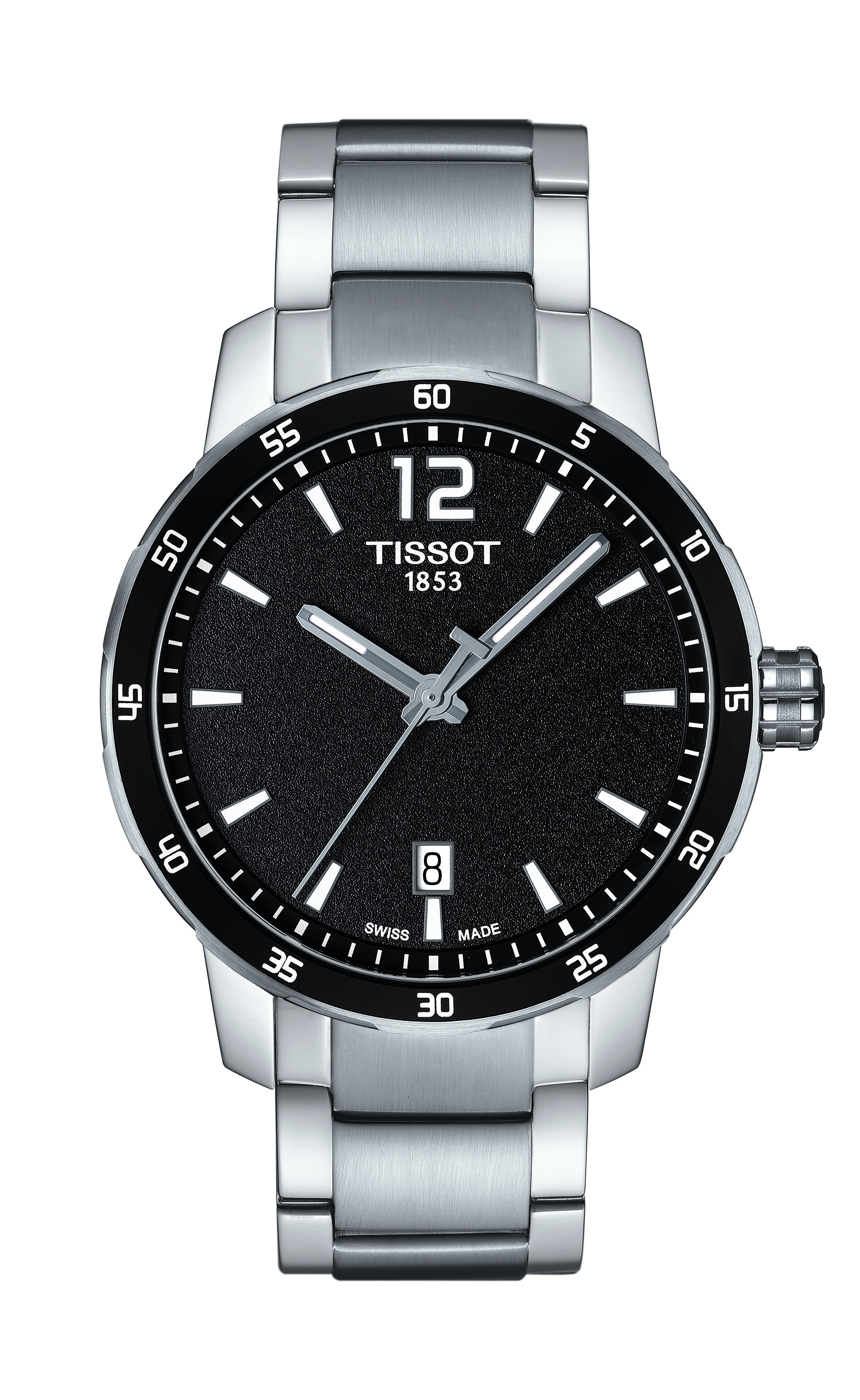 Gnts Stainless Steel Black Dial Quickstar Tissot
