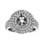 Ladies 1.220 Ctw Diamond Semi-mount / 18 Kt W