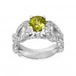 Ladies 1.430 Ctw Round Cut Diamond Ring / 18 Kt W