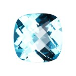 Antique Cushion Cut Swiss Blue Topaz