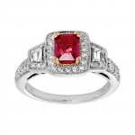 Ladies .880 Ctw Diamond Ring / 14 Kt W