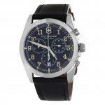 Gents stainless steel black band Victorinox