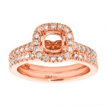 0.75tw Diamond Semi-mount & band / Rose Gold 14 Kt.