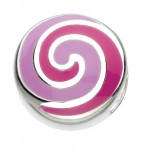 Lollipop swirl bead pink