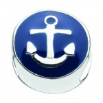 Blue enamel anchor bead