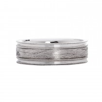 Mens Sterling Silver Brushed Wedding Band