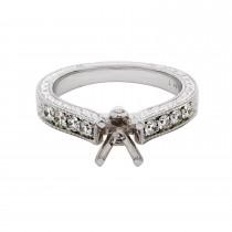 Ladies .650 Ctw Diamond Semi-mount / 14 Kt W