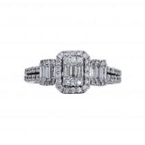Ladies .750 Ct. / .750 Ctw Radiant Cut Diamond Engagement Ring