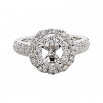 Ladies 1.000 Ctw Diamond Semi-mount / 14 Kt W