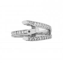Ladies .480 Ctw Diamond Semi-mount / 18 Kt W