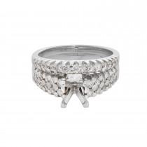 Ladies .900 Ctw Diamond Semi-mount / 14 Kt W