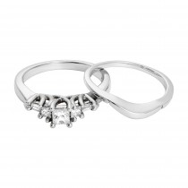 14KW .50CTW ENGAGEMENT RING W/ CONTOUR BAND