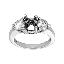 Ladies 1.120 Ctw Diamond Semi-mount / 14 Kt W
