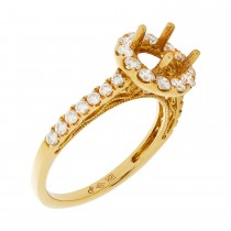 18k Yellow Gold Diamond .83ctw Semi-Mount
