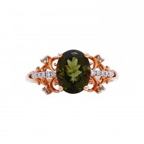 Ladies Multi-color Ring / 14 Kt Y