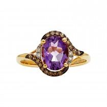 Ladies Amethyst Ring / 14 Kt Y