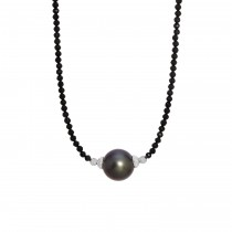 Black Spinel & Tahitian Pearl Necklace