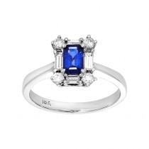 14kw .50ct sapphire/.35ctw diamond ring
