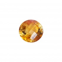 Round 13.0ct Checkerboard Cut Citrine