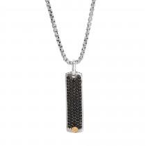 EFFY Men's Sapphire Pendant / Silver & 18 Kt.