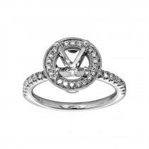 Ladies .400 Ctw Diamond Semi-mount / 14 Kt W