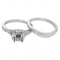 Ladies .650 Ctw Diamond Semi-mount / 14 Kt W
