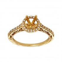 Ladies .280 Ctw Diamond Semi-mount / 14 Kt Y