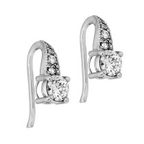 Ladies Diamond Earrings / 14 Kt W