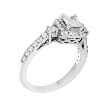 Sterling Silver Cubic Zirconia Engagement Ring