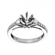 Ladies .330 Ctw Diamond Semi-mount / 14 Kt W