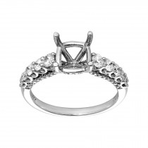 Ladies .750 Ctw Diamond Semi-mount / 14 Kt W
