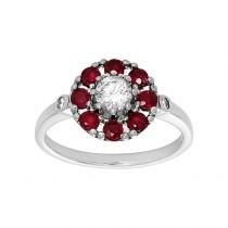 Ladies .370 Ctw Diamond Fashion Ring / 14 Kt W