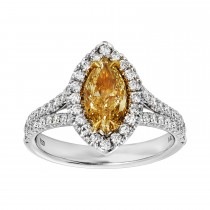 Ladies 1.640 Ctw Diamond Ring / 18 Kt W