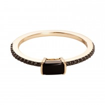 EFFY Ladies Onyx Ring / 14 Kt Y