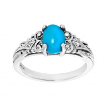 Ladies Turquoise Ring / Silver