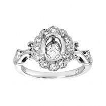 Ladies .400 Ctw Round Cut Diamond Semi-mount / 14 Kt W
