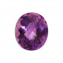 10.95ct Oval Checkerboard Amethyst