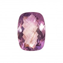 Antique Square Genuine Amethyst. Double Sided Checkerboard Cut.