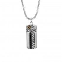 EFFY .810 Ctw Sapphire Pendant / Silver & 18 Kt.
