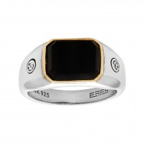 EFFY Men's Onyx Ring / Sterling Silver