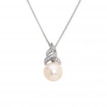 Ladies Pearl Pendant / 14 Kt W
