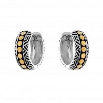 EFFY 2-Tone Hoop Earrings / Silver & 18 Kt.