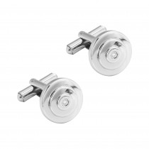 Gents .040 Ctw Diamond Cuff Links / Stainless