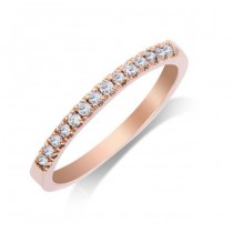 Ladies .210 Ctw Diamond Anniversary Band / Rose Gold