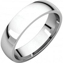 14 Kt White Gold 5mm Comfort Fit Band