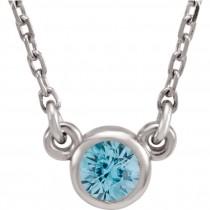 Sterling Silver December Birthstone Necklace