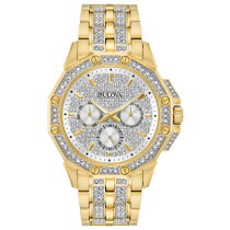 Bulova Men's Yellow-Tone Crystal Chronograph Watch
