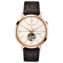 Bulova Men's Automatic Rose-Tone Watch